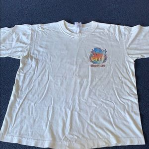 White graphic Cancun T-shirt
